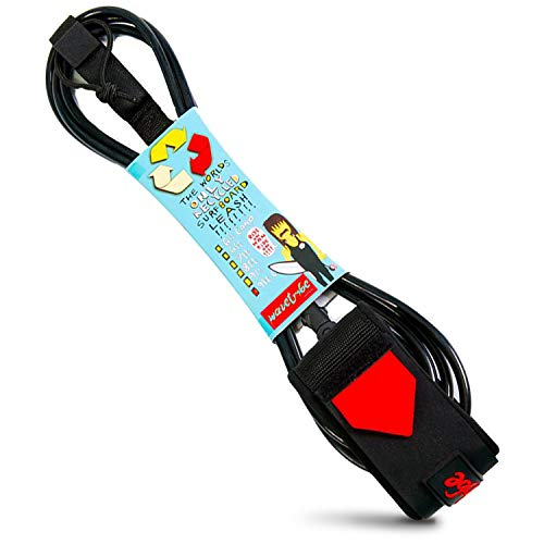 サーフィン リーシュコード マリンスポーツ ???WAVE TRIBE??? ECO Surfboard Leash ???Strong Like Bull' - Premium Surf Leash Leash with Double Stainless Steel Swivels and Triple Rail Saver (9' CALF)サーフィン リーシュコード マリンスポーツ