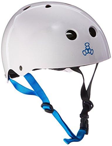 ウォーターヘルメット 安全 マリンスポーツ サーフィン ウェイクボード 0351 Triple Eight Water Halo Helmet, White Gloss, Smallウォーターヘルメット 安全 マリンスポーツ サーフィン ウェイクボード 0351