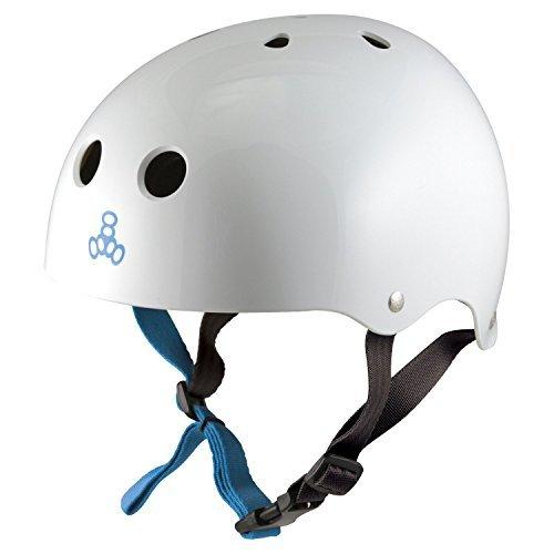 ウォーターヘルメット 安全 マリンスポーツ サーフィン ウェイクボード 0352 Triple Eight Water Halo Helmet, White Gloss, Mediumウォーターヘルメット 安全 マリンスポーツ サーフィン ウェイクボード 0352