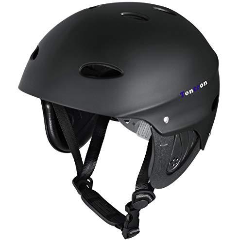 ウォーターヘルメット 安全 マリンスポーツ サーフィン ウェイクボード Tontron Water Helmet (Matte Black Diamond,Medium)ウォーターヘルメット 安全 マリンスポーツ サーフィン ウェイクボード