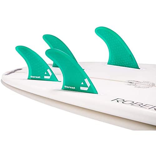 4 Honeycomb FUT Base Blue DORSAL/® Carbon Hexcore Quad Surfboard Fins