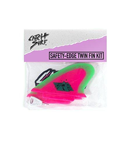 サーフィン フィン マリンスポーツ HPSAFETWN 【送料無料】Catch Surf Hi-Perf Safety Edge Twn Fn Set, Hot Pink//Neon Limeサーフィン フィン マリンスポーツ HPSAFETWN
