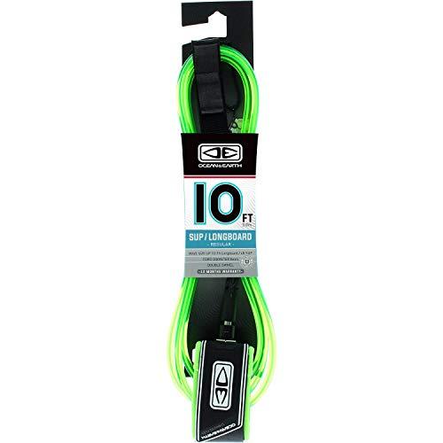 サーフィン リーシュコード マリンスポーツ Ocean and Earth Regular Lime Longboard Surfboard Leash - 10'サーフィン リーシュコード マリンスポーツ