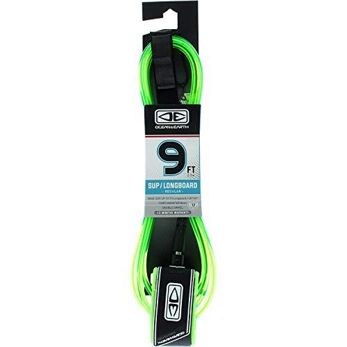 サーフィン リーシュコード マリンスポーツ 【送料無料】Ocean & Earth Regular Lime Longboard Surfboard Leash - 9'サーフィン リーシュコード マリンスポーツ
