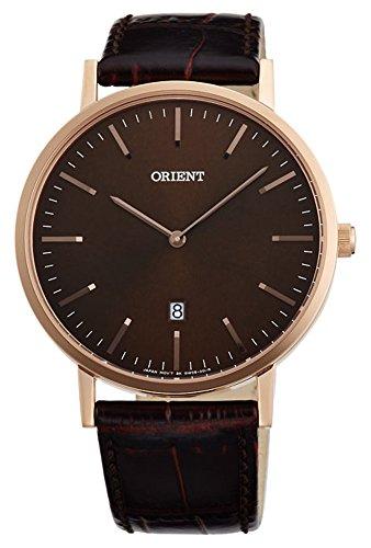 オリエント 腕時計 レディース 【送料無料】ORIENT Slim Collection Minimalist Japanese Quartz Rose Gold Brown Watch FGW05001Tオリエント 腕時計 レディース