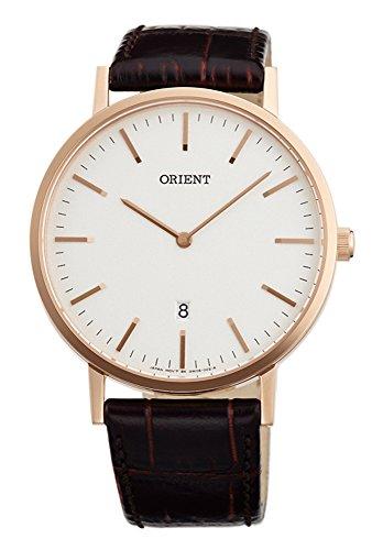 オリエント 腕時計 レディース 【送料無料】ORIENT Slim Collection Minimalist Japanese Quartz Rose Gold Watch FGW05002Wオリエント 腕時計 レディース