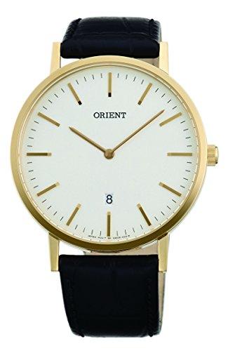 オリエント 腕時計 レディース 【送料無料】ORIENT Slim Collection Minimalist Japanese Quartz Watch Gold Tone FGW05003Wオリエント 腕時計 レディース
