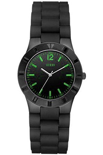ゲス GUESS 腕時計 レディース W11602L4 【送料無料】Guess Womens Trend Series Analog Quartz Green Accents Black IP Case Watch New W11602L4ゲス GUESS 腕時計 レディース W11602L4