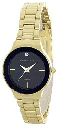 アンクライン 腕時計 レディース Anne Klein Women's Black Dial Gold Tone Bracelet Quartz Watch AK/2548BKGBアンクライン 腕時計 レディース