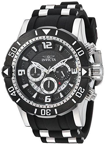 インヴィクタ インビクタ プロダイバー 腕時計 メンズ 23696 【送料無料】Invicta Men's Pro Diver Stainless Steel Quartz Diving Watch with Polyurethane Strap, Black, 26 (Model: 23696)インヴィクタ インビクタ プロダイバー 腕時計 メンズ 23696