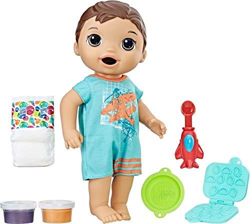 無料ラッピングでプレゼントや贈り物にも 逆輸入並行輸入送料込 ベビーアライブ 赤ちゃん 日本正規代理店品 おままごと 期間限定今なら送料無料 ベビー人形 C1884 送料無料 Luke Brunette Snackin Baby Dollベビーアライブ Alive Ba
