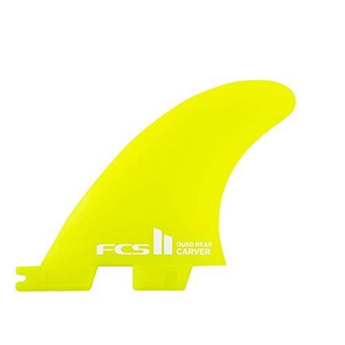 サーフィン フィン マリンスポーツ CARVER SIDE SET 【送料無料】FCS II Carver Neo Glass Quad Rear Side Byte Fin Small Yellowサーフィン フィン マリンスポーツ CARVER SIDE SET