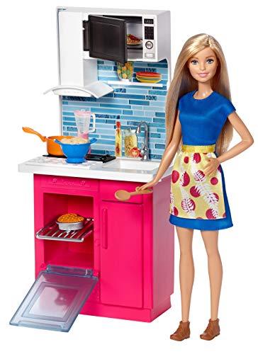 バービー バービー人形 日本未発売 プレイセット アクセサリ DVX54 【送料無料】Barbie Kitchen and Doll, Multicolorバービー バービー人形 日本未発売 プレイセット アクセサリ DVX54