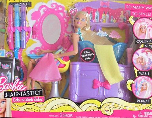 バービー バービー人形 日本未発売 プレイセット アクセサリ V Barbie Hair-Tastic COLOR & WASH HAIR SALON Playset w BARBIE DOLL, Working SINK & MORE! (2010)バービー バービー人形 日本未発売 プレイセット アクセサリ V