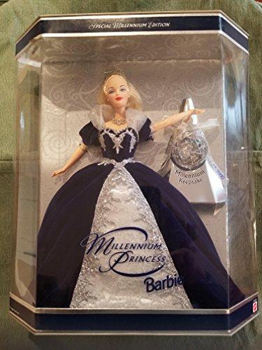 バービー バービー人形 日本未発売 24154 【送料無料】Holiday Barbie Special Edition Millennium Princess Mattel Year 1999 2000 with Swirl Background Inside Boxバービー バービー人形 日本未発売 24154