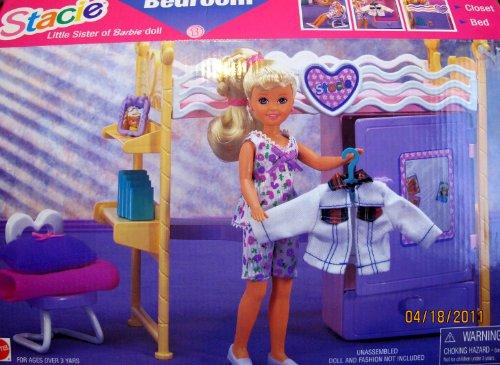 バービー バービー人形 チェルシー スキッパー ステイシー 67591 Sister of Barbie STACIE BEDROOM Playset w Desk, Closet, Bed & MORE! (1996 Arcotoys, Mattel)バービー バービー人形 チェルシー スキッパー ステイシー 67591