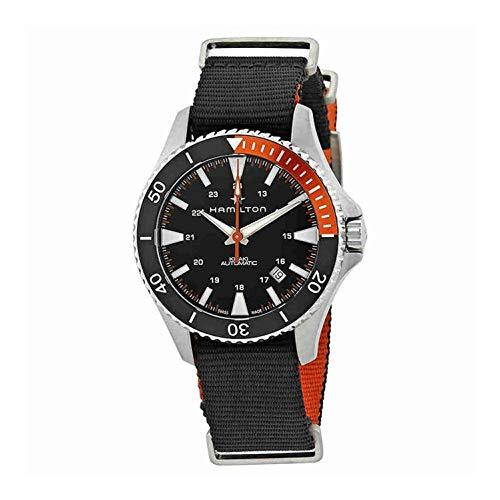ハミルトン 腕時計 メンズ 【送料無料】Hamilton Khaki Navy Black Dial Nylon Strap Men's Watch H82305931ハミルトン 腕時計 メンズ