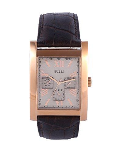 腕時計 ゲス GUESS メンズ W0370G3 【送料無料】Guess W0370G3 Men's Dress Multifunction Brown Leather Strap Watch腕時計 ゲス GUESS メンズ W0370G3
