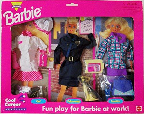 バービー バービー人形 バービーキャリア バービーアイキャンビー 職業 68592-91 Barbie Cool Career Fashions CHEF, POLICE OFFICER w Dog & EXECUTIVE (1995 Arcotoys, Mattel)バービー バービー人形 バービーキャリア バービーアイキャンビー 職業 68592-91