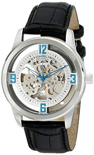 ストゥーリングオリジナル 腕時計 メンズ 877.01 【送料無料】Stuhrling Original Men's 877.01 Winchester Automatic Self-Wind Skeleton Black Genuine Leather Strap Watchストゥーリングオリジナル 腕時計 メンズ 877.01
