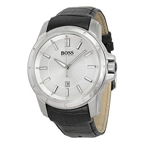 ヒューゴボス 高級腕時計 メンズ Brand New HUGO BOSS Men's Silver Dial Black Band Watch 1512923ヒューゴボス 高級腕時計 メンズ
