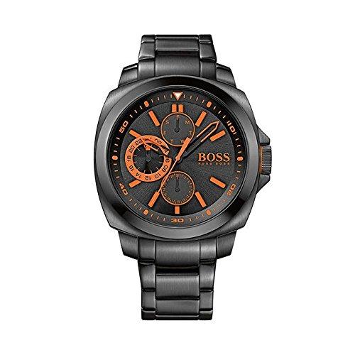 ヒューゴボス 高級腕時計 メンズ 1513104 BRAND NEW Hugo Boss Men's Orange All Black Orange Accent Dial Watch 1513104ヒューゴボス 高級腕時計 メンズ 1513104