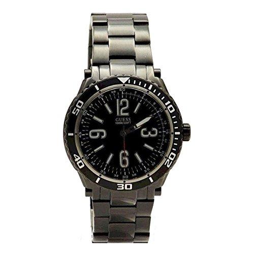 ゲス GUESS 腕時計 メンズ U0043G2 【送料無料】GUESS Men's U0043G2 Black Ionic-Plated Racing Sport Watchゲス GUESS 腕時計 メンズ U0043G2
