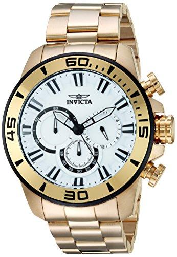 インヴィクタ インビクタ プロダイバー 腕時計 メンズ 22589 【送料無料】Invicta Men's Pro Diver Quartz Watch with Stainless-Steel Strap, Gold, 24 (Model: 22589)インヴィクタ インビクタ プロダイバー 腕時計 メンズ 22589