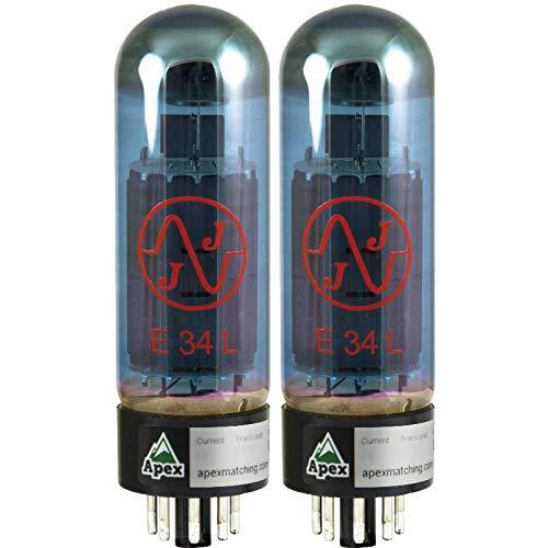 真空管 ギター・ベース アンプ 海外 輸入 JJ E34L Blue Glass Vacuum Tube, Apex Matched Pair真空管 ギター・ベース アンプ 海外 輸入