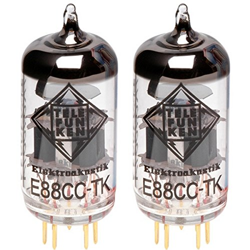 真空管 ギター・ベース アンプ 海外 輸入 Matched Pair of E88CC-TK 6922 TELEFUNKEN Elektroakustik Matched Pair of E88CC-TK | Black Diamond Series 9 Pin Replacement Vacuum Tube 6922真空管 ギター・ベース アンプ 海外 輸入 Matched Pair of E88CC-TK 6922