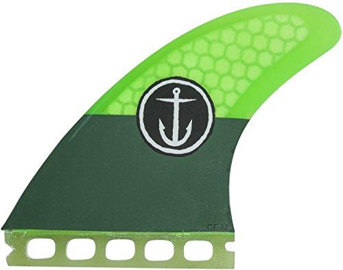 サーフィン フィン マリンスポーツ CFF2111501 【送料無料】Captain Fin Co Medium Surf Fins Single Tab Green 3サーフィン フィン マリンスポーツ CFF2111501