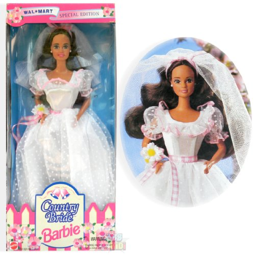 バービー バービー人形 ウェディング ブライダル 結婚式 13616 【送料無料】Barbie Country Bride Doll (Brunette) Wal Mart Special Edition (1994)バービー バービー人形 ウェディング ブライダル 結婚式 13616