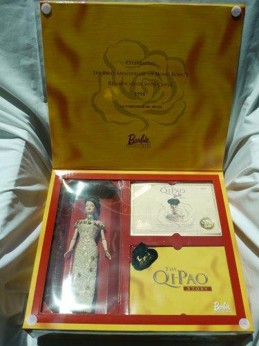 バービー バービー人形 バービーコレクター コレクタブルバービー プラチナレーベル 20649 Hong Kong 1998 Anniversary Edition Golden Qi-Pao Barbie with Commemorative Gold バービー バービー人形 バービーコレクター コレクタブルバービー プラチナレーベル 20649