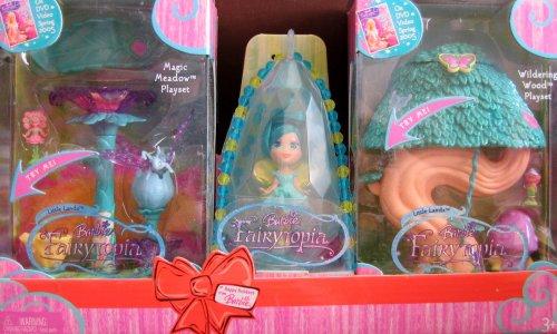 大きな取引 バービー マーメイド バービー人形 ファンタジー 人魚 マーメイド Barbie Fairytopia Little & Lands Barbie Magic Meadow Playset & Wildering Wood Playset &