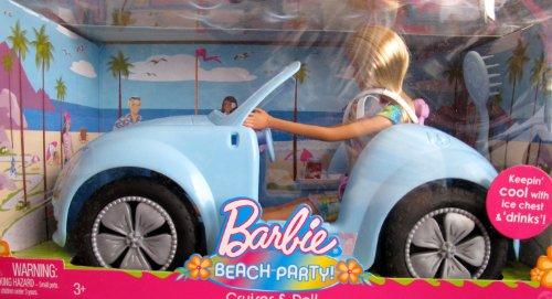 バービー バービー人形 日本未発売 プレイセット アクセサリ N8817 Barbie BEACH PARTY CRUISER Vehicle & DOLL Set - CAR & DOLL, Ice Chest & MORE! (2008)バービー バービー人形 日本未発売 プレイセット アクセサリ N8817