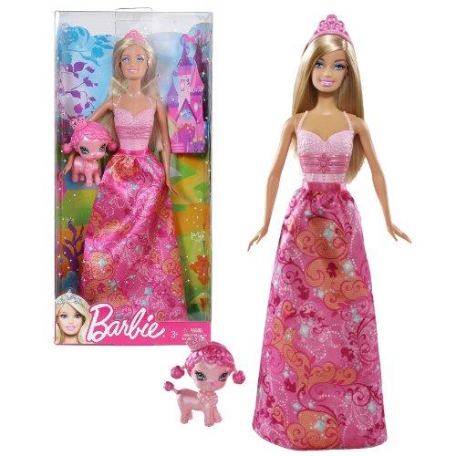バービー バービー人形 ファンタジー 人魚 マーメイド Mattel Year 2011 Barbie Fairytale Magic Series 12 Inch Doll - Princess Barbie (W2946) with Tiara and Pink Poodle Puppy Dogバービー バービー人形 ファンタジー 人魚 マーメイド
