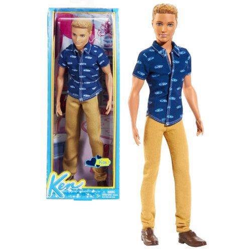 バービー バービー人形 ファッショニスタ 日本未発売 Mattel Year 2013 Barbie Fashionistas Series 12 Inch Doll - KEN (BFW10) with Blue Shirt, Brown Denim Pants and Shoeバービー バービー人形 ファッショニスタ 日本未発売