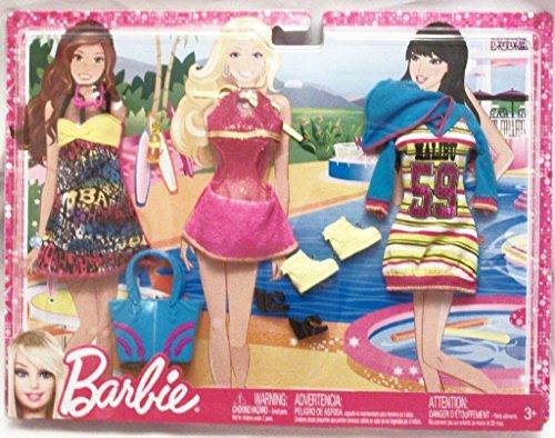 バービー バービー人形 着せ替え 衣装 ドレス T7543 Barbie Fashionistas Fashion Pack - Malibu Beach Time Outfitsバービー バービー人形 着せ替え 衣装 ドレス T7543
