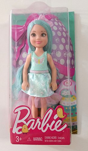バービー バービー人形 日本未発売 【送料無料】Chelsea Doll, 5.5 inches Tall, Aqua Hair and Pink Ribbon Headband, 2017 Easter Edition, with Pink Butterfly on Light Blue Tank aバービー バービー人形 日本未発売