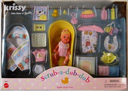 バービー バービー人形 チェルシー スキッパー ステイシー 26897 【送料無料】Barbie KRISSY Scrub-A-Dub-Dub Bath Time Fun Doll Set (2000)バービー バービー人形 チェルシー スキッパー ステイシー 26897