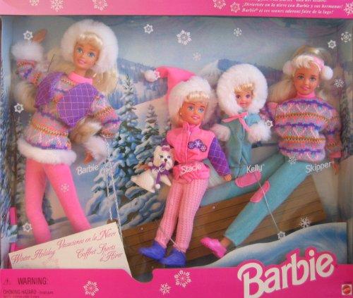 バービー バービー人形 チェルシー スキッパー ステイシー 15645 【送料無料】BARBIE WINTER HOLIDAY Set SLEDDING FUN w 4 DOLLS (Skipper, Kelly, Stacie & Barbie), Koko (Dog), SLED & More (1バービー バービー人形 チェルシー スキッパー ステイシー 15645