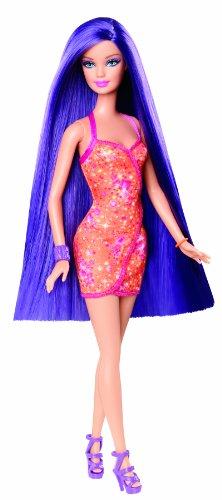 バービー バービー人形 日本未発売 Y9928 Barbie Hairtastic Orange Dress Long Purple Hair Dollバービー バービー人形 日本未発売 Y9928