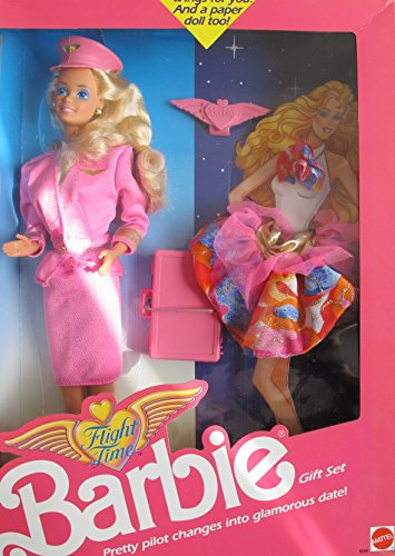 バービー バービー人形 日本未発売 Barbie FLIGHT TIME DOLL GIFT SET w Extra FASHION, BRIEF CASE & More! Change PRETTY PILOT Into GLAMOROUS DATE! (1989)バービー バービー人形 日本未発売