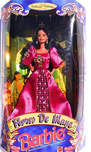 バービー バービー人形 日本未発売 9990 Filipina Flores de Mayo LE Reyna Fe Barbie in Fuchsia Satin Gown with Beaded Crosses - (1998)バービー バービー人形 日本未発売 9990