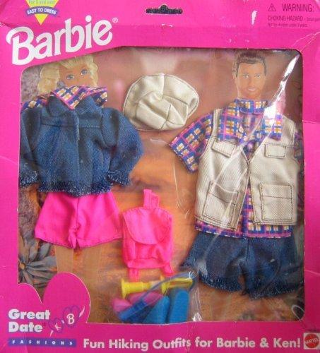 バービー バービー人形 着せ替え 衣装 ドレス 68588-91 Barbie Great Date Hiking Outfits Fashions for Barbie & Ken! - Easy to Dress (1995 Arcotoys, Mattel)バービー バービー人形 着せ替え 衣装 ドレス 68588-91