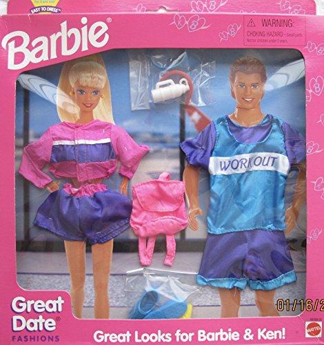 バービー バービー人形 着せ替え 衣装 ドレス Barbie Great Date WORK OUT Fashions - Great Looks For Barbie & Ken! - Easy To Dress (1995 Arcotoys, Mattel)バービー バービー人形 着せ替え 衣装 ドレス