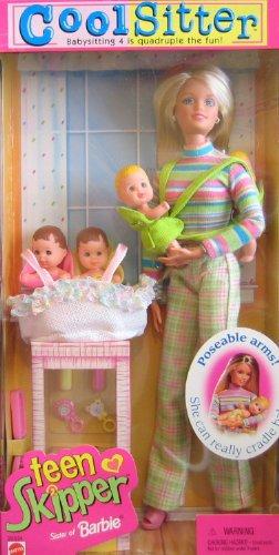 バービー バービー人形 チェルシー スキッパー ステイシー 29334 Barbie Cool Sitter TEEN SKIPPER Doll w 4 Babies Quadruple the Babysitting Fun (1998)バービー バービー人形 チェルシー スキッパー ステイシー 29334