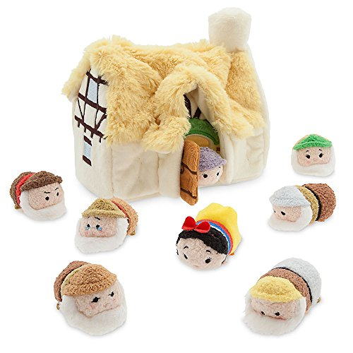 白雪姫 スノーホワイト ディズニープリンセス 【送料無料】Disney Snow White And The Seven Dwarfs Tsum Tsum Cottage Set Micro 2 1/2'' New白雪姫 スノーホワイト ディズニープリンセス