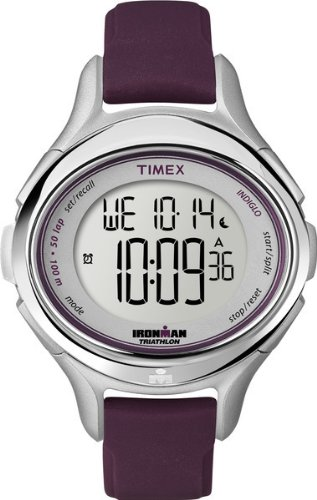 タイメックス 腕時計 レディース T5K498 Timex Women's T5K498 Ironman All Day 50-Lap Plum Silicone Strap Watchタイメックス 腕時計 レディース T5K498
