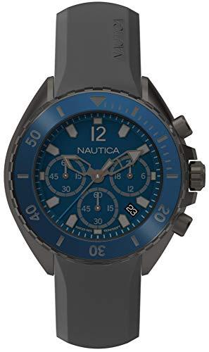 ノーティカ 腕時計 メンズ NAPNWP003 Nautica Men's Newport Stainless Steel Japanese-Quartz Watch with Silicone Strap, Grey, 22 (Model: NAPNWP003ノーティカ 腕時計 メンズ NAPNWP003